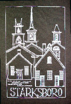 Starksboro, Vermont (VT) T-shirt donated by and for sale by the Starksboro Village Meeting House, Starksboro, Vermont (VT)